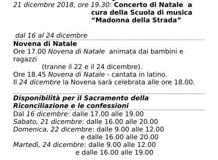 Appuntamenti Natale 2019